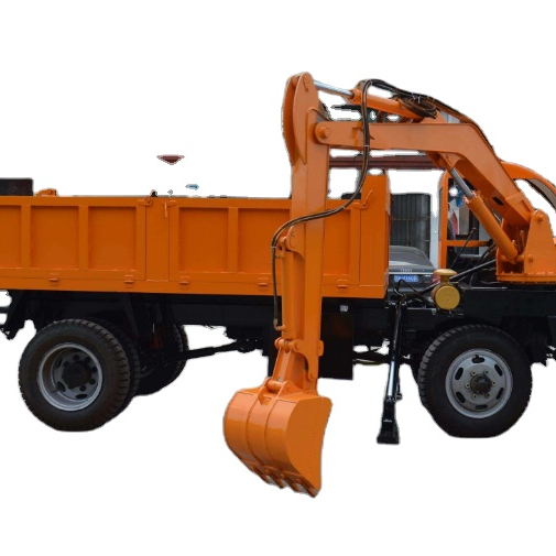 Dig agricultural vehicles with the car Truck mounted excavator for farm