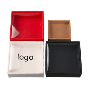 Clear Plastic PVC Lid And Kraft Drawer Box With Logo Customized Packaging Box
