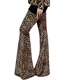 Hot Sale Ladies Fashion Leopard Animal Print Bell Trouser Pants