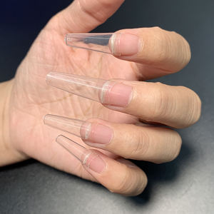 Wholesale 500pcs/bag Nails Clear/Natural False Artificial Fingernails new French coffin Nail Tips