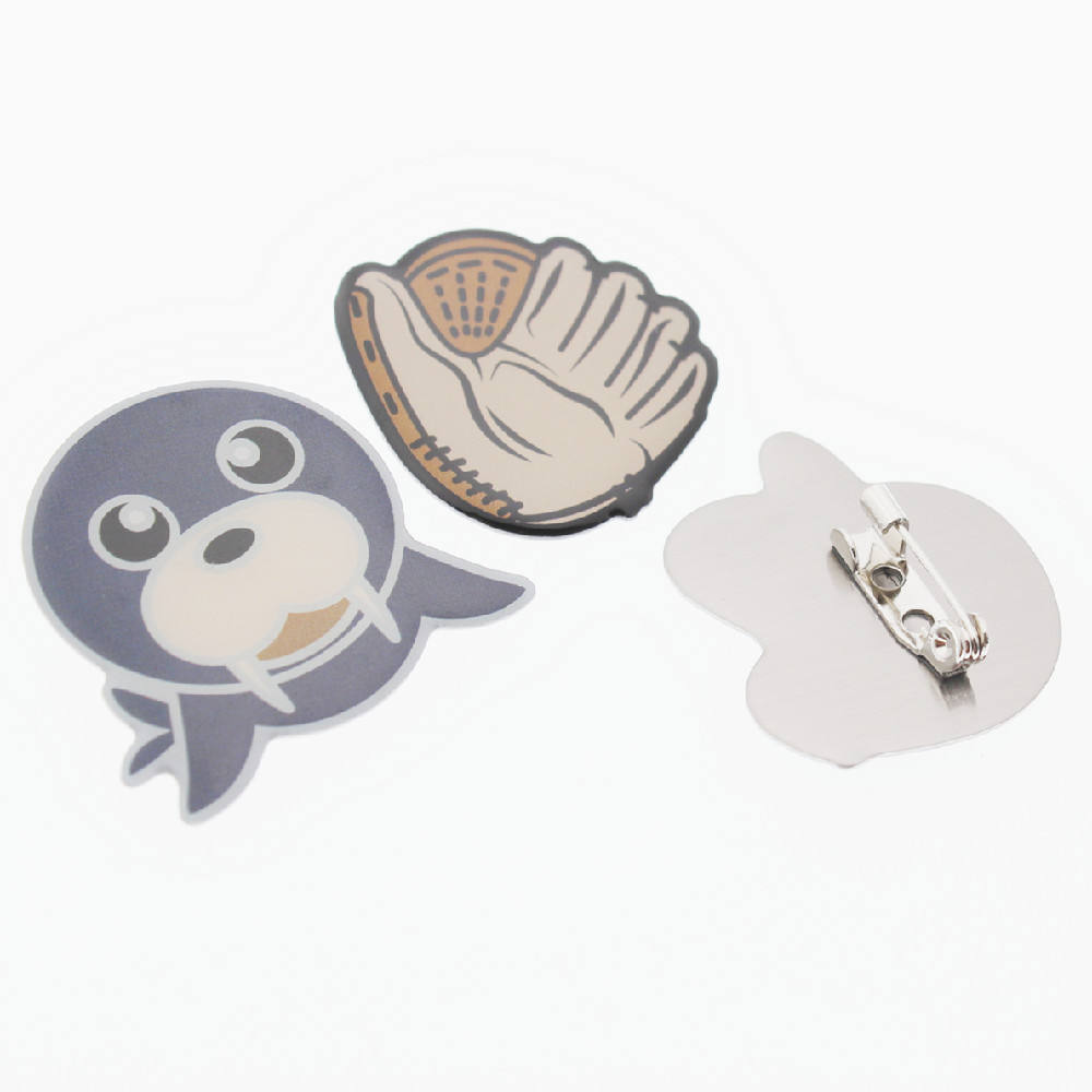 Best price cute custom stainless steel safety pins brooch for hat coat