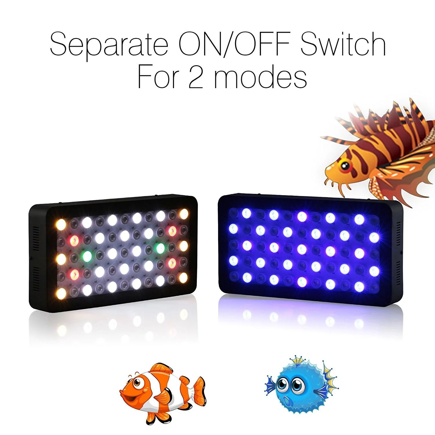 165W Marine Reef coral planted aquarium led lighting full spectrum for Freshwater Plants