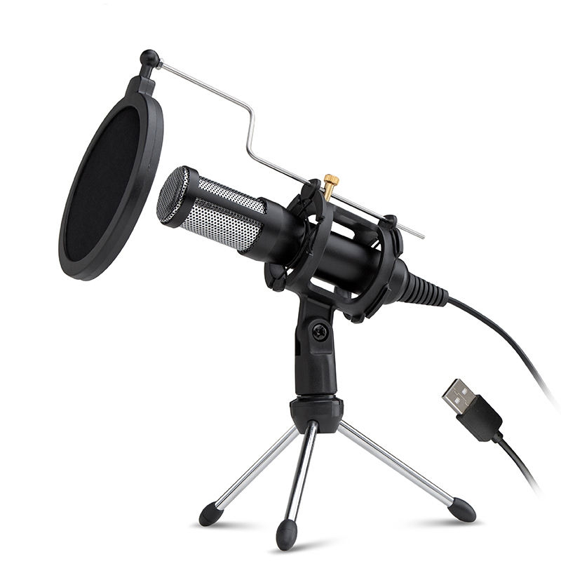 Anchor Recording condenser Studio USB computer Microphone with tripod Stand PC Skype Online Gaming Vlogging mic
