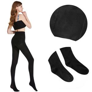 Black Elastic Plain Pantyhose Solid Plus Size Tights Pantyhose Women's Spring Autumn Winter Breathable Slim Wholesale