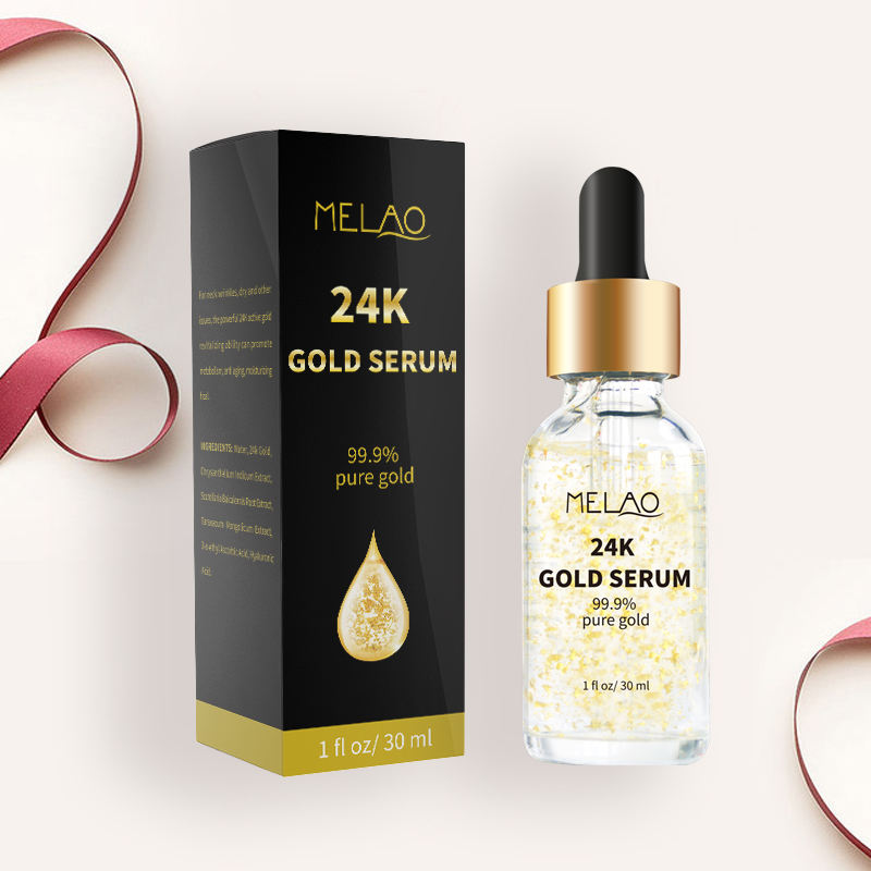 Anti-Âge 24k feuille d'or pur sérum blanchissant hydratant