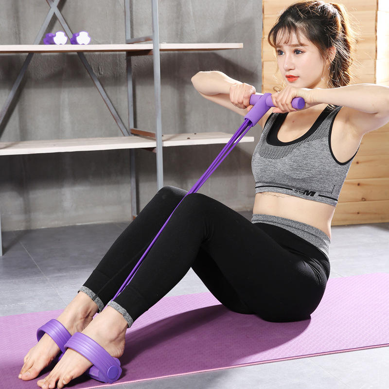 2020 Elastic Pull Ropes Abdominal Exerciser Rower Belly Resistance Band Gym Sport Training Elastic Bands For Fitness Equipment