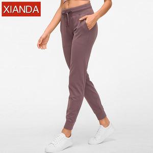 Womens Jogger Pants Blank Nylon Spandex Sweatpants Full length Running Leggings Plain Joggers