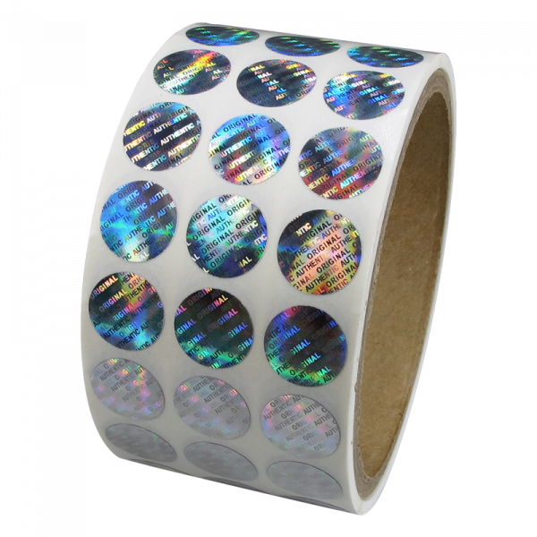 Custom Logo Overlay Silver Transparent 3D Euro Paper Security Label Holographic Sticker Hologram Stickers