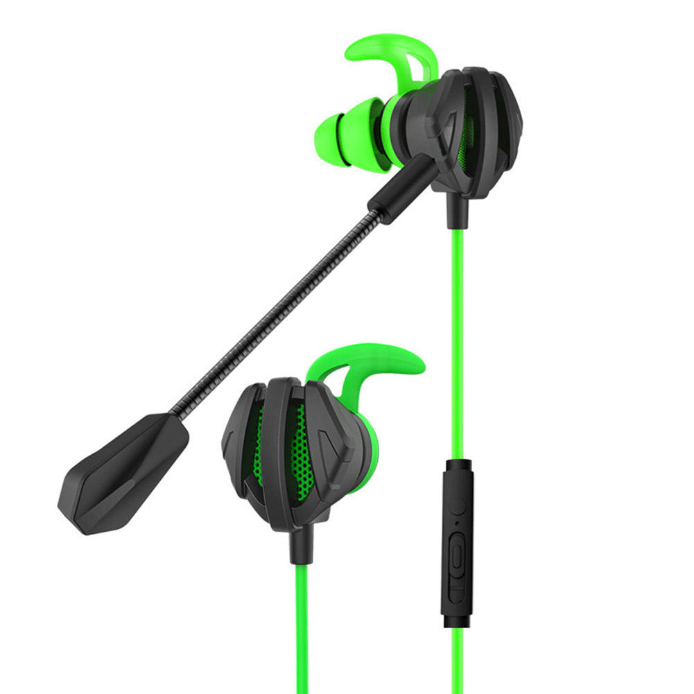 3.5mm Headphones Portable Dynamic Noise Reduction In-Ear Wired Call Earphones Gaming Headset Computer Earpiece With Dual Mic G6