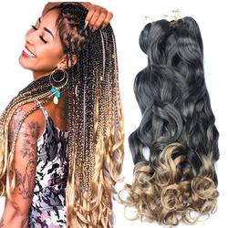 crochet braids hair extension 22inch 150gram synthetic jumbo spiral deep braiding hair for box braids