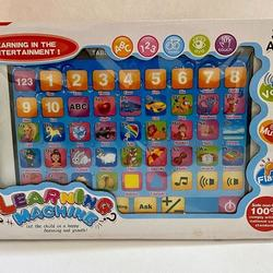 Most hot selling kids laptop learning machine russian alphabet letter learning pad words learning toys