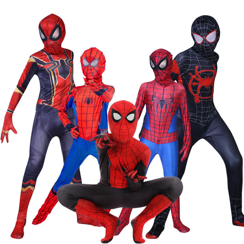Spider Man Spiderman Costume Fancy Jumpsuit Adult And Children Halloween Cosplay Costume Red Black Spandex 3D Cosplay Clothing