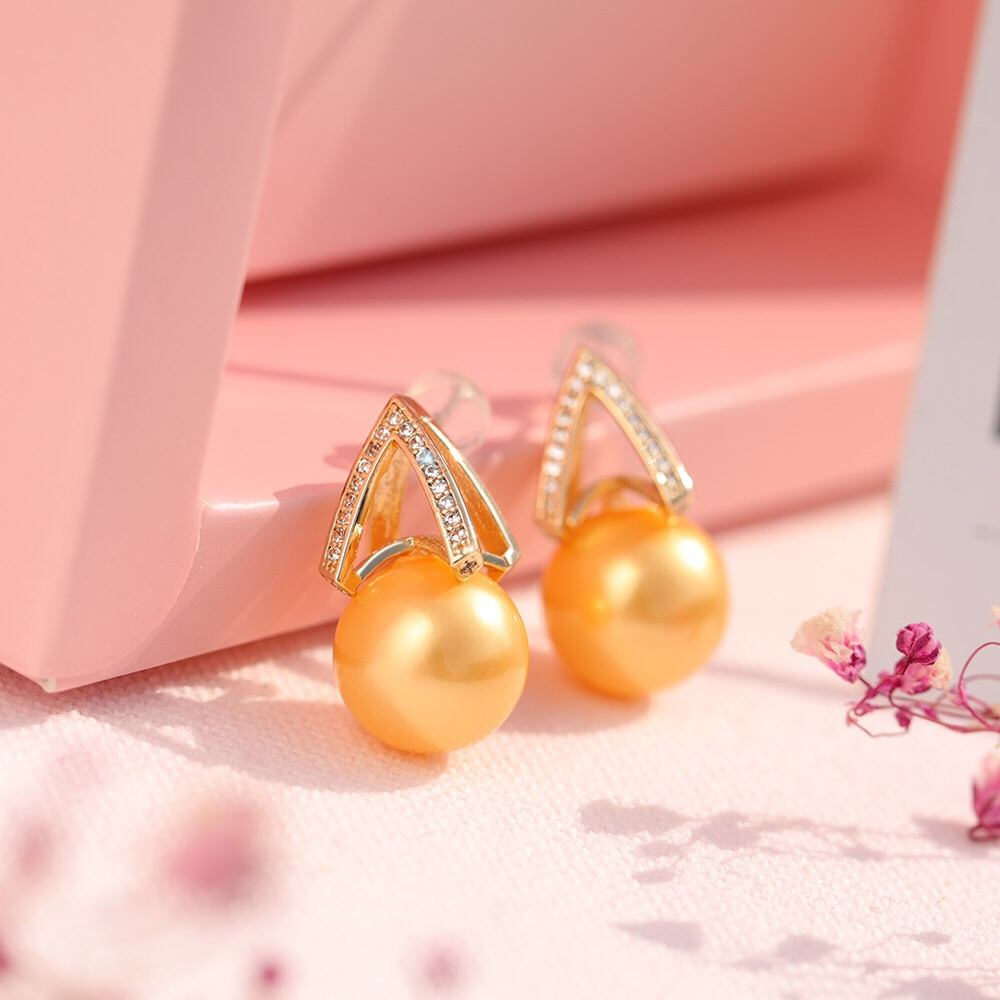 New Design Earrings New Style Trendy Luxury Fashion Trendy Design Charm Gold Plated Pearl Drop Jewelry Sets Women Earrings
