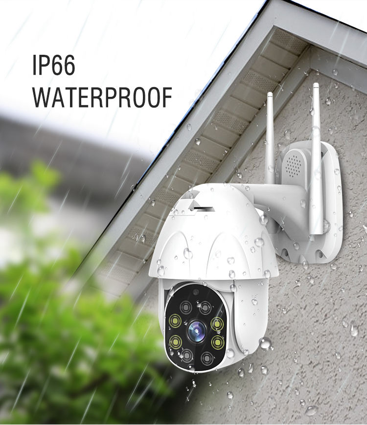 Outdoor cctv camera waterproof speed dome camera with Auto tracking ip wifi camera support Amazon Alexa tuya system