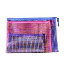 Clear colorful stationery nylon makeup ipad pouch file document bag
