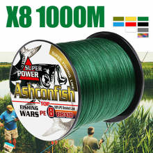 Fishing Line 8 Strands 8 Braided 1000M Strong Japan Line Multifilament PE Line