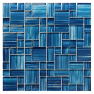 Mixed 20x20 Strip Size Mozaic Glass Mosaic Tiles