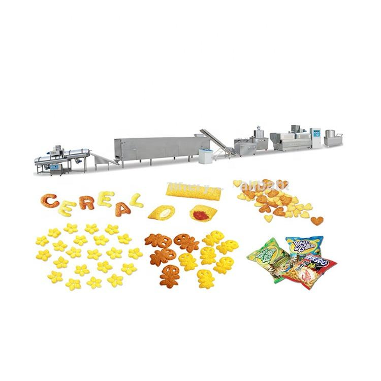 Corn puff snack extruder processing line with namkeen making machine