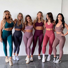 2020 Ladies Womens Seamless Athletic Activewear Fitness Clothes Gym Wear Workout Clothing Yoga Set Sportswear For Women