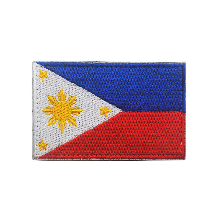 Embroidered National Flag Philippines Flag Iron Patches Badge for bag