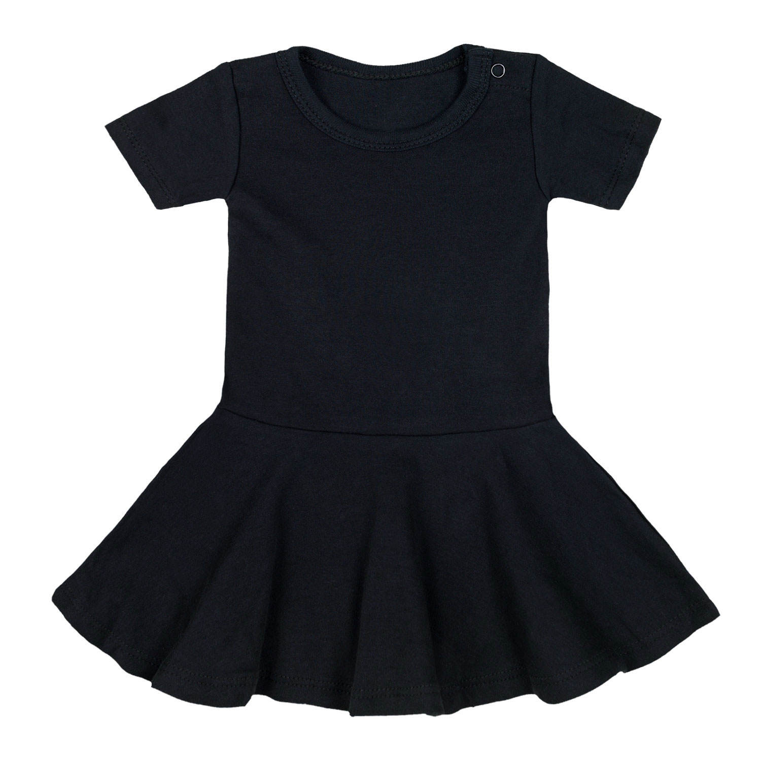 Baby Girls' Kids Frocks High Quality Black Color Princesses Tutu Skirts Short Sleeve Baby Dress