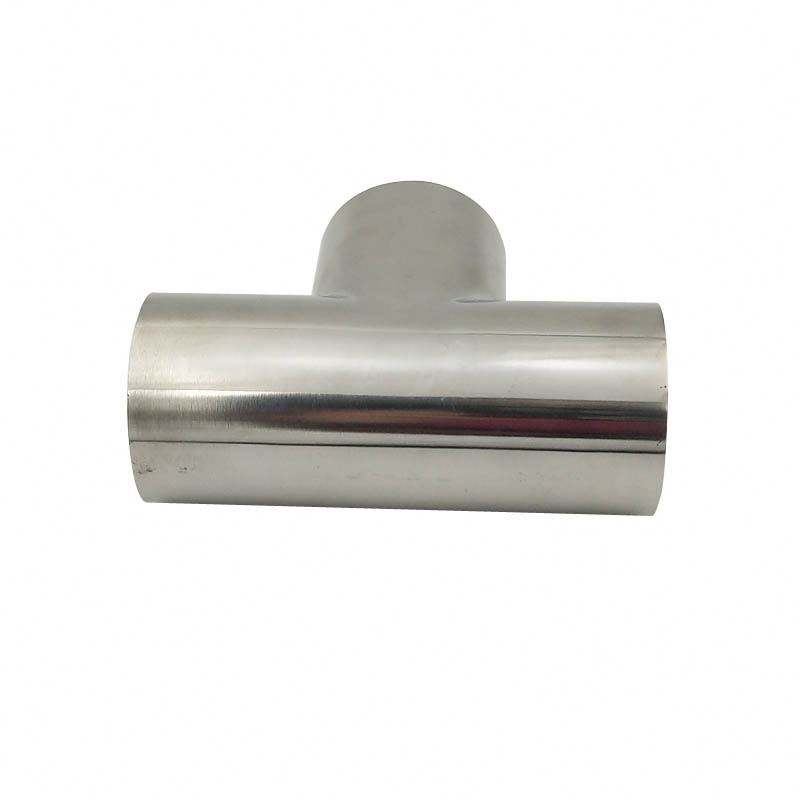 Ace Sanitary Stainless Steel Sms Welding Tubing Fittings Butt Welded Short Equal Tee