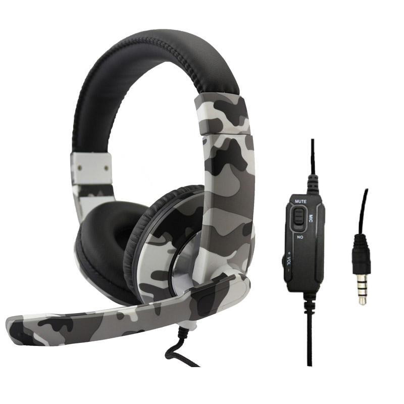 SEZ-A7 Headset Support P4/PC X-ONE Camouflage Colors Headphone Wired Gaming Headset with Audit Reports of BSCI, ISO9001
