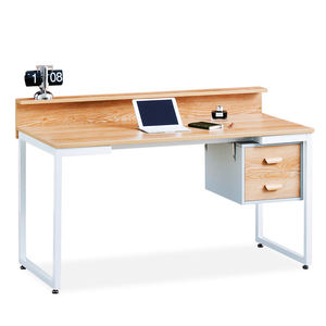 Modern Home Office furniture, Wooden Metal Frame Desk escritorio PC study laptop computer table desks with shelf