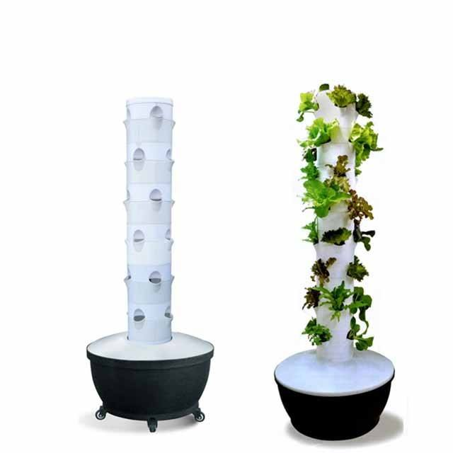 Vertical NFT Hydroponic Garden Tower for Greenhouse Growing Systems