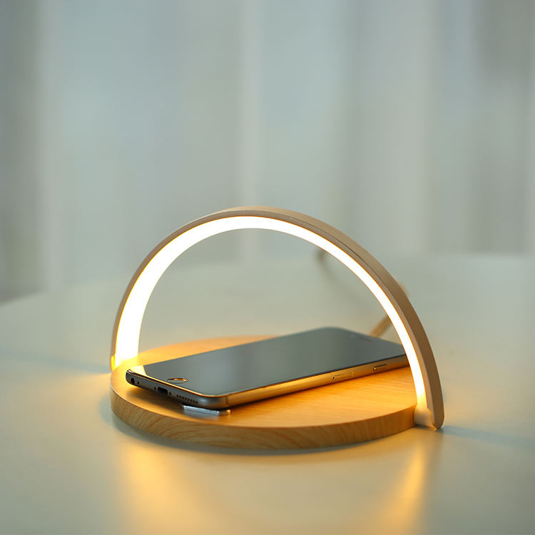 stand wireless charger LED lamp mobile phone holder wireless charger
