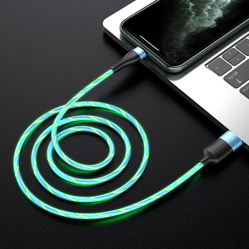hoco. U85 Charming night charging data cable for phone with LED shining