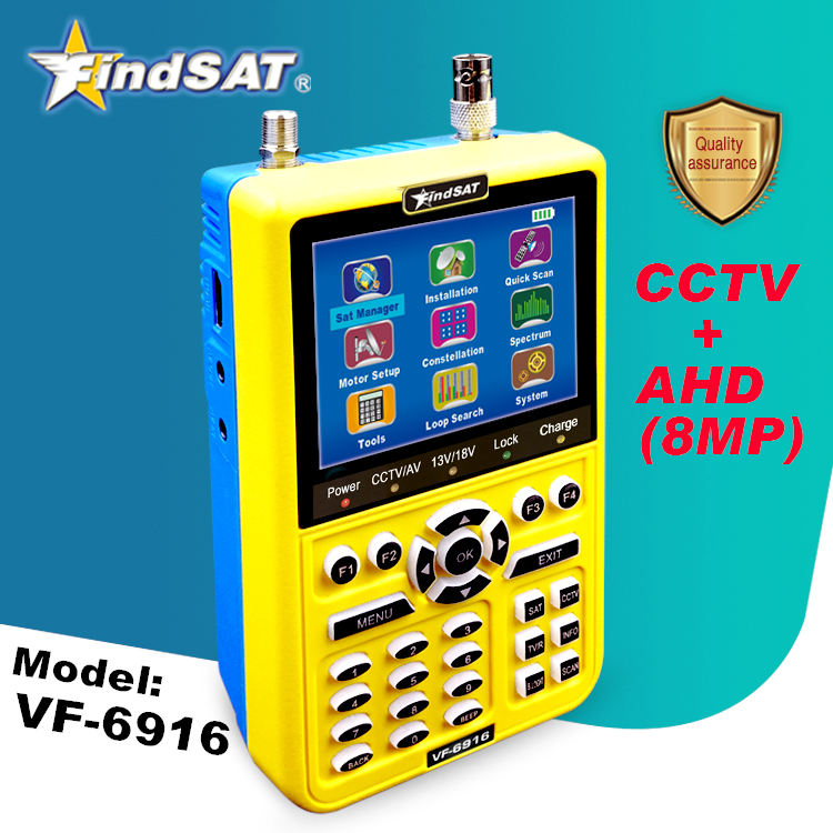 HD SAT Finder + CCTV + AHD 8MP (FindSAT VF6916 Pro)
