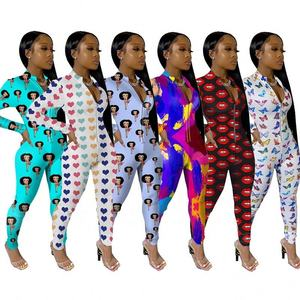 Sexy fall clothing long sleeve sleepwear nightwear romper pajamas onesies for women