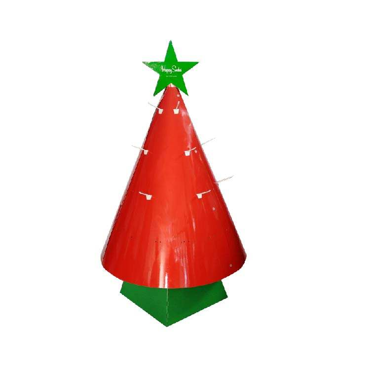 Factory supplier customized professional christmas tree for foot socks displays