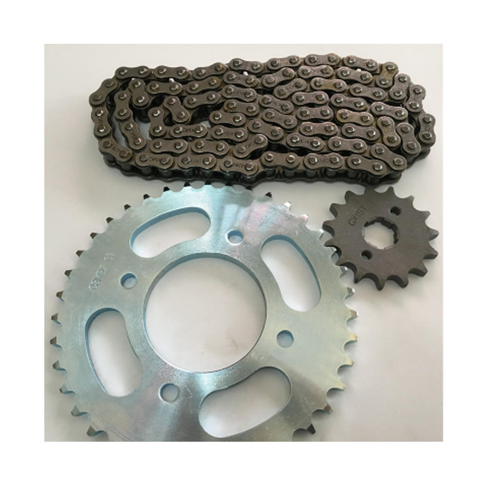 chain sprocket motorcycle Chain and sprocket kits transmission sprocket for CG125/150/200 WY125/150 YBR125 AX100 GXT200 Bajaj