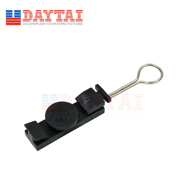 S Type 1R FTTH High Tension Flat Cable Clamp Fiber Optic Drop Cable Tension Clamp