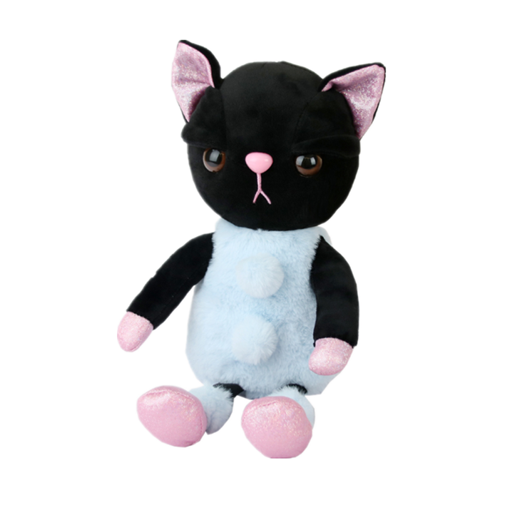wholesale 25cm cute kawaii black cat plush dolls stuffed animal gift cat plush toys