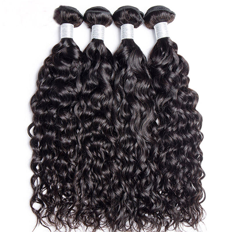 Bundles With Closure Brazilian Hair Weave Bundle Sunlight Non Remy Lace Closure Human Hair 4 / 3 Bundles With Closure
