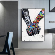 Street Graffiti Art Canvas Painting Lover Hands Art Wall Posters and Prints Inspiration Artwork Picture for Living Room Decor
