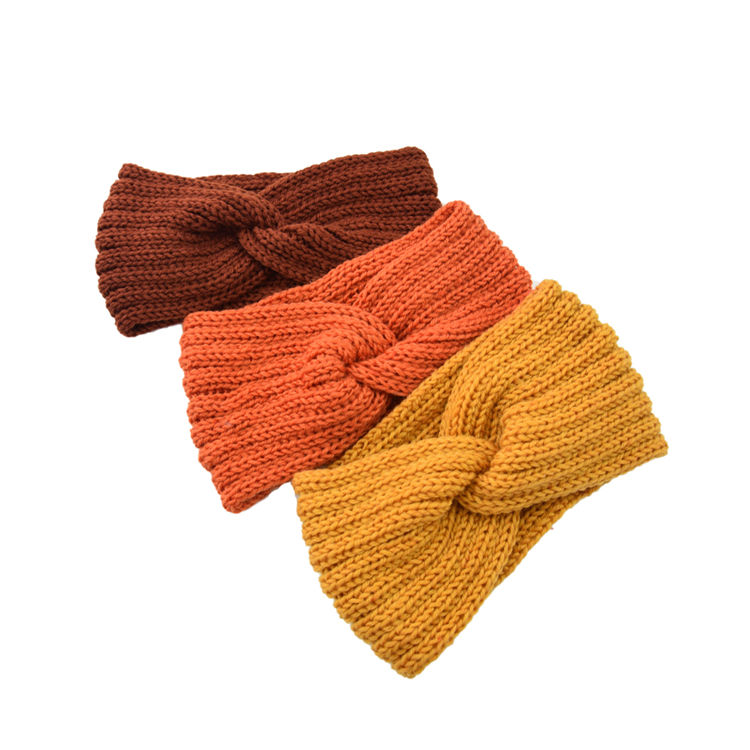 High Quality Cheap Custom Polyester Ladies Knitted Warm Head Winter Headband For Women