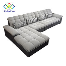 Manufacturer Wholesale Sectional Fabric Corner Latex Sofa CEFS019 for Living Room