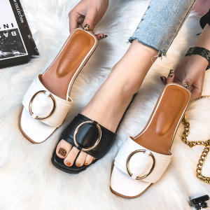 2020 latest ladies slippers shoes and sandals luxury women's flat sandals wholesale