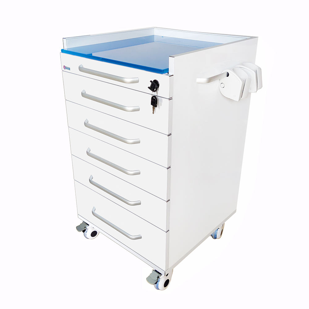 Dental Clinic Use Portable Dental Furniture Cabinet Stainless steel Dental Cabinet with handpiece holder Customized acceptable