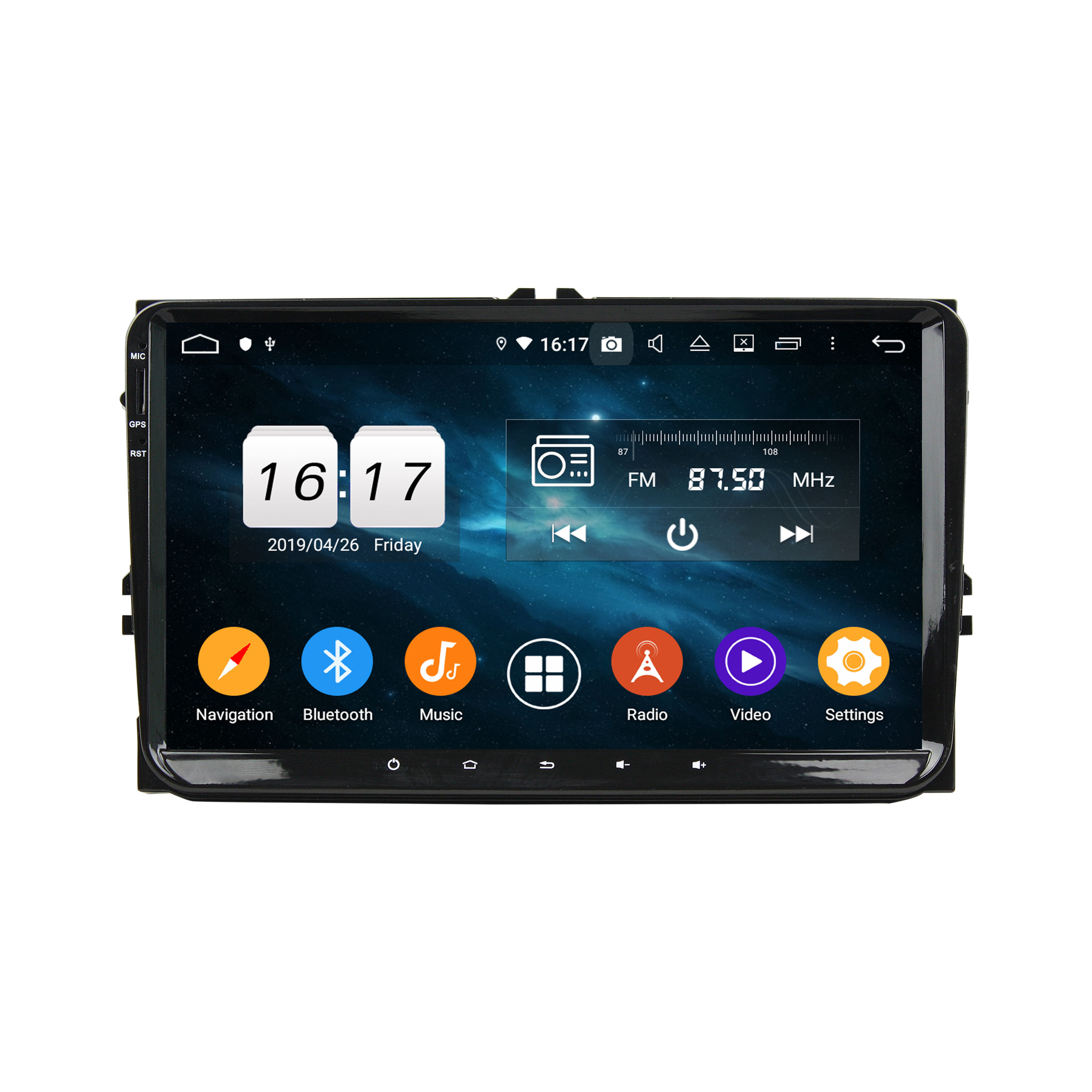 KD-9613 Android 10.0 Hot-Selling PX5 9 inch Car Audio Radio Gps Navigation Stereo For VW universal