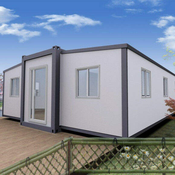 Expandable fabricated house container folding insulation solar prefab container house prefabricated home luxury