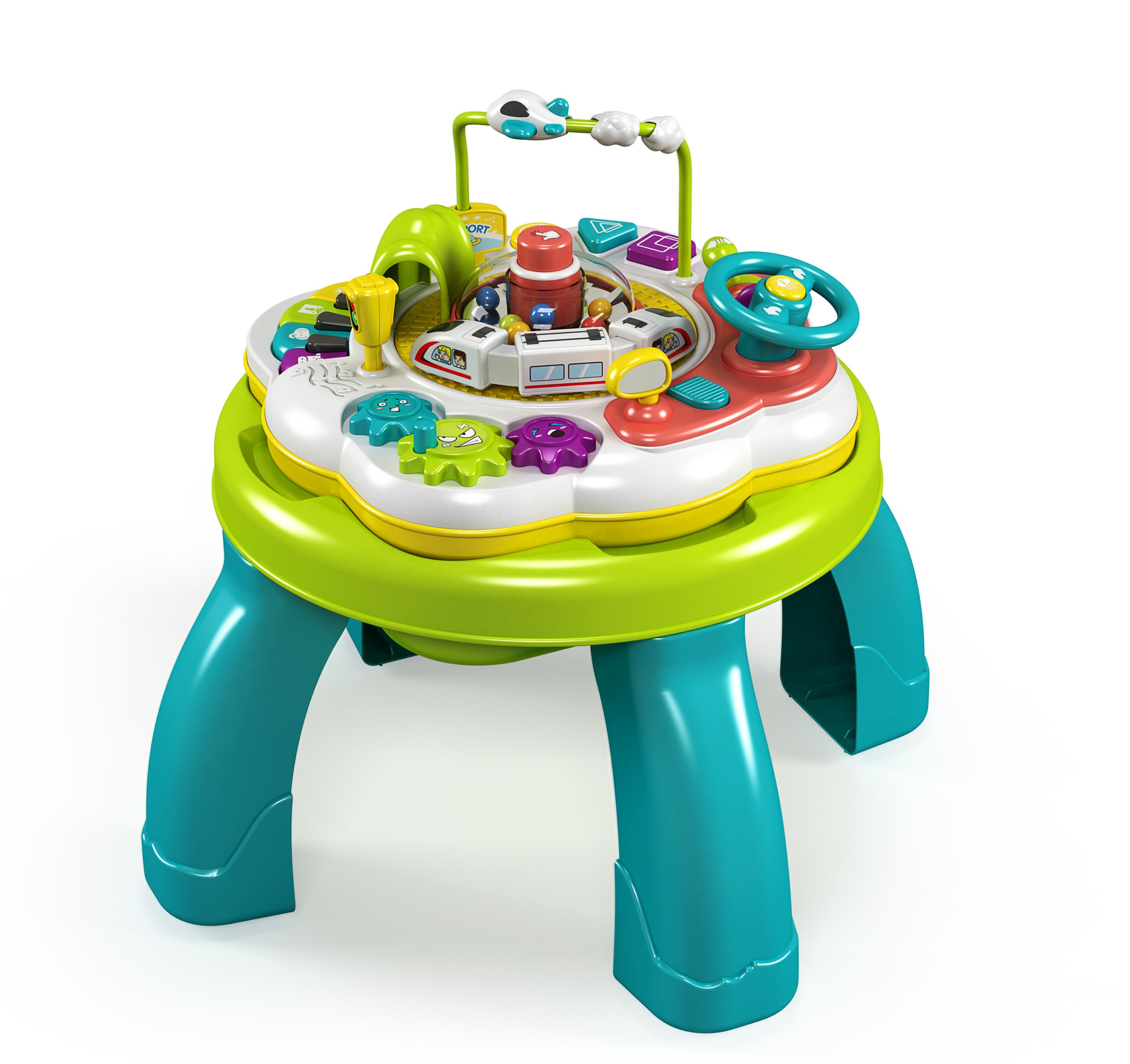Kids Plastic Music Educational Toys Puzzle Piano Children's Room Baby Multi-functional Learning Table