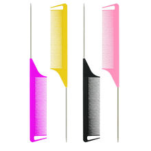 Salon dye parting combs afro highlighted comb hair straightener highlighting comb barber tools with four options