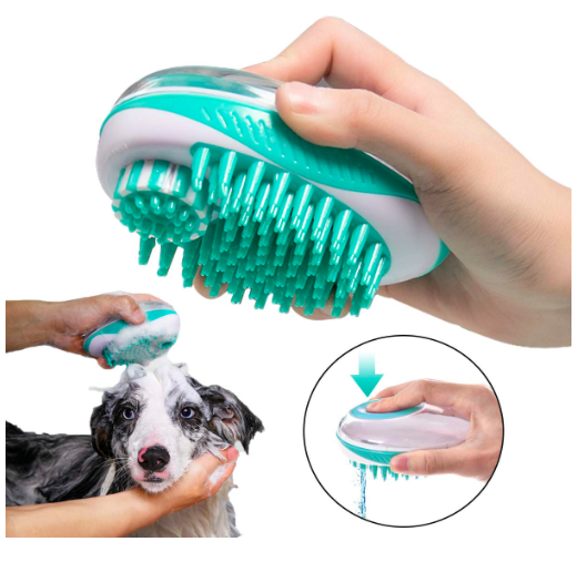 wholesale Pet Bathing Shower Tool Pet hair bath brush with massage pet brush and shampoo pressing