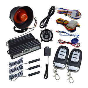 Hot sale PKE car Alarm Passive keyless Entry with Push Button Start   Remote Starter Microwave Sensor Shock Alarm