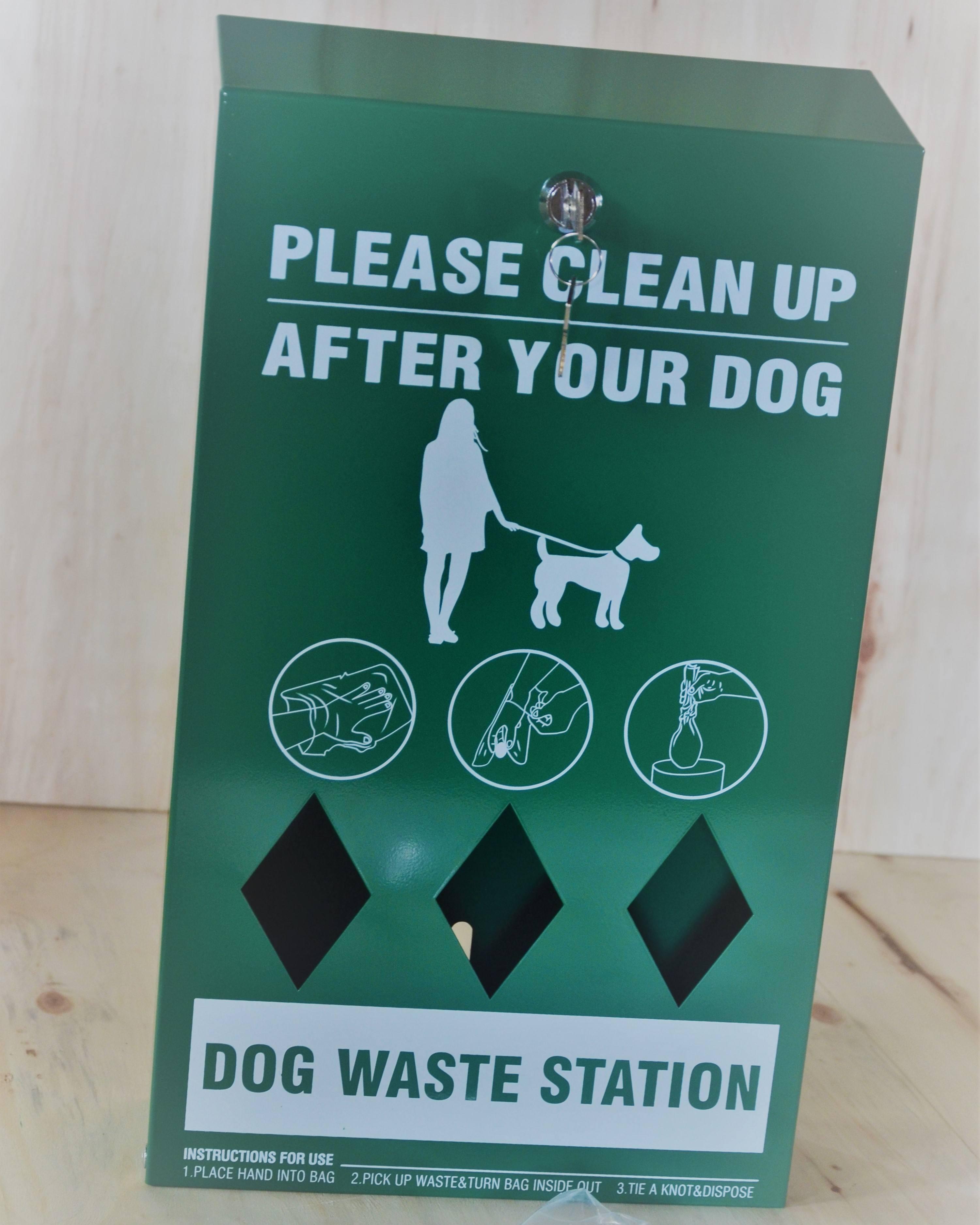 Factory in shanghai dog poop waste station bag dispenser whole set station with good price